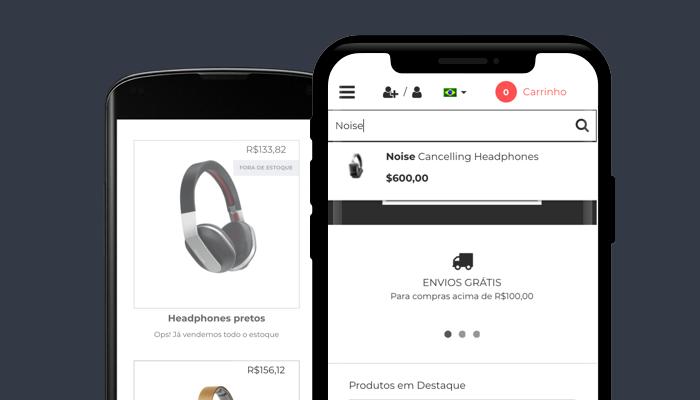 Layout Minimal: os produtos em primeiro lugar